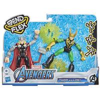 Marvel - Avengers Bend and Flex Thor Vs Loki Action Figures