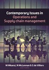 Contemporary Issues In Operations and Supply Chain Managemen - M. Mkansi, N. McLennan, G. De Villiers