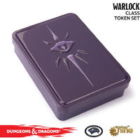Gale Force 9 - Dungeons & Dragons - Spellcard Tins - Warlock Token Set (Role Playing Game)