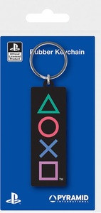 PlayStation - Shapes Rubber Keychain