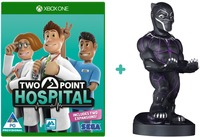 """Two Point Hospital (Xbox One) + Cable Guy Marvel Avengers """"Black Panther"""" - Phone & Controller Holder Bundle (Xbox One) - Cover"""