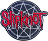 Slipknot - Red Logo Over Nonogram Woven Patch