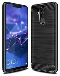 Tuff-Luv Carbon Fibre Style Shockproof Case for Huawei Mate 20 -Black - Cover