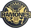 Ramones - Gold Seal Woven Patch