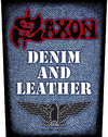 Saxon - Denim & Leather Back Patch
