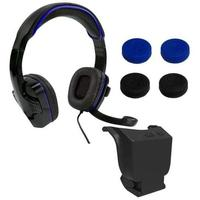 Sparkfox - SF1 Wired Over-Ear Headset / Deluxe Controller Thumb Grip Pack / 1000mAh Controller Battery Pack (PS4)