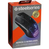 SteelSeries - Ultra Lightweight Gaming Mouse - Aerox 3 Wireless - Black (PC)