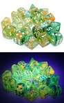 Chessex - Set of 10 D10 Dice-  Nebula: Spring/White Luminary (Clamshell)