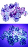 Chessex - Set of 10 D10 Dice - Nebula: Nocturnal/Blue Luminary (Clamshell)