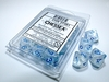 Chessex - Set of 10 D10 Dice - Borealis: Icicle/Light Blue Luminary (Clamshell)