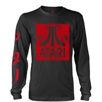 Atari - Box Logo Long sleeved Unisex T-Shirt - Black (Medium)