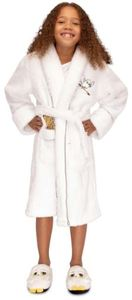 Harry Potter - Hedwig Kids PolyFleece Hoodless Robe Sparkle - White (X-Large)