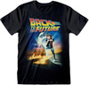 Back To The Future - Poster Black Unisex T-Shirt (Small)