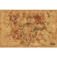The Legend Of Zelda - Breath Of The Wild - Hyrule World Map Poster