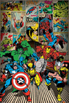 Marvel - Here Come The Heroes Poster (61x91,50cm)