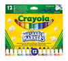 Crayola - Washable Broad Line Markers (Pack of 12)