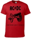 AC/DC - For Those About To Rock Unisex T-Shirt - Red (Medium)