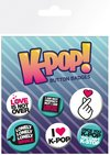 K -Pop Quotes Button Badges (Pack of 6)