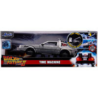 Back To The Future 2 - 1:24  DeLorean Time Machine Die-Cast Car Model with Lights