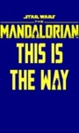 Star Wars: the Mandalorian – This Is the Way Women's Navy T-Shirt (Large)
