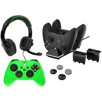 Sparkfox Xbox Series X Combo Gamer Pack With Headset grip Pack controller Skin charging Dock 2 X Batteries
