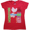 Woodstock - Vintage  Classic Poster Ladies T-Shirt - Red (X-Small)