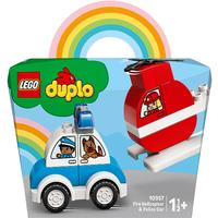 DUPLO® My First - Fire Helicopter & Police Car (14 Pieces)