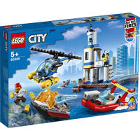LEGO® City Police - Seaside Police and Fire Mission (297 Pieces)