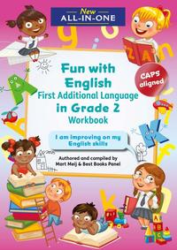 New All-In-One Grade 2 Fun with English First Additional Language Workbook - Mart Meij (Paperback) - Cover