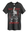 Black Sabbath - Wicked World Amplified Vintage Charcoal Large T-Shirt
