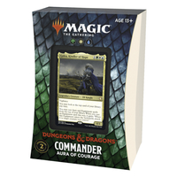 Magic: The Gathering - Adventures in the Forgotten Realms Commander Deck - Aura of Courage (Trading Card Game) - Cover