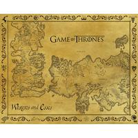 Game Of Thrones - Antique Map Poster (40x50cm)