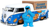Jada Toys - 1:24 Diecast 1963 VW Bus With Cookie Monster Figure