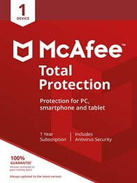Mcafee 2019 Total Protection 1 Device - Cover