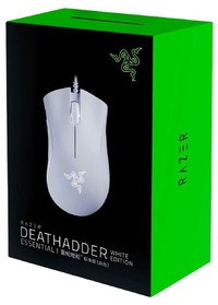 Razer - DeathAdder Essential Ergonomic Wired Gaming Mouse - White Edition