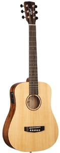 Cort Earth Mini 3/4 Travel Acoustic Guitar with Bag (Open Pore Natural)