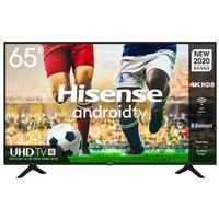 Hisense 65 inch 4K UHD Android TV; WiFi; Bluetooth; Voice Control; Remote Now; Netflix; YouTube; Google Play Store