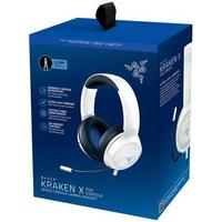 Razer - Kraken X For Console-Wired Console Gaming Headset for PlayStation - White (PS4/PS5)