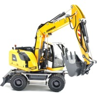 AT-Collections - 1:32 Liebherr A916 Wheeled Excavator With Mitas Tyres and Disconnectable Liebherr Bucket (Die Cast Model)