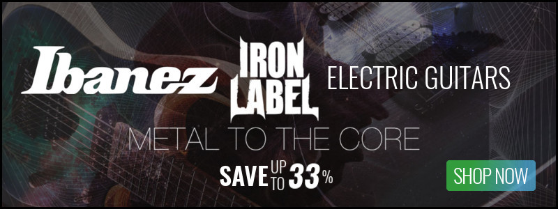 Ibanez Iron Label Series Electric Guitars On Sale - Save Up To 33%