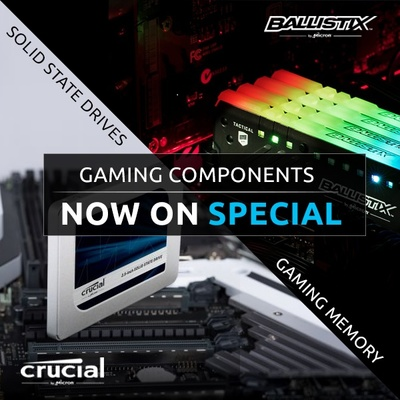 Crucial Ballistix Gaming Components Now On Special - Ends 31 May 2018