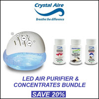 Crystal Aire LED Ioniser Purifier + Concentrates For R649