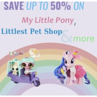 Save up to 50% on My Little Pony, Littlest Pet Shop, Play-Doh and more