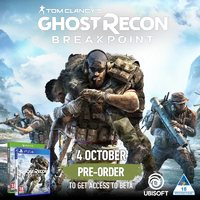 Tom Clancy's Ghost Recon Breakpoint (PS4/Xbox One) Standard, Gold & Ultimate Editions on Pre-Order. Includes BETA Access + Sentinel Corp. Pack. Due October 2019.