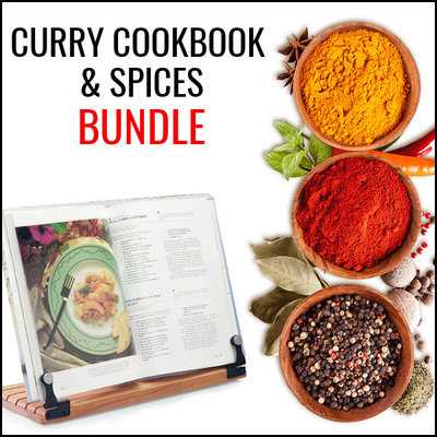 Curry Recipe Book and Spices Bundle - Save 15%