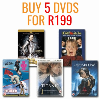 Buy 5 DVD's for R199