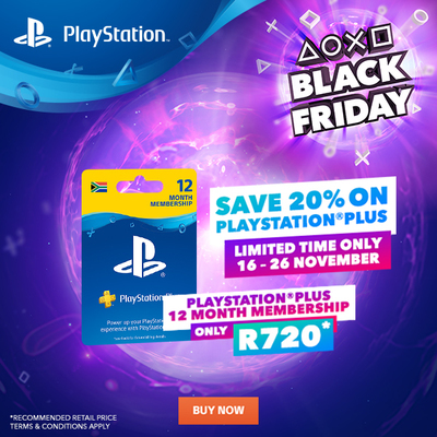 PlayStation Plus 12 Month & 3 Month Membership Black Friday Promotion now on - Ends 26 Nov.