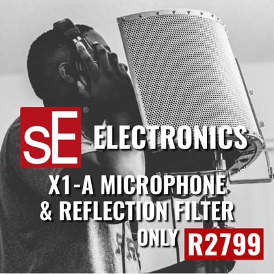 SE Electronics X1-A Condenser Microphone Plus RF-X Portable Vocal Booth for R2799 - Save 30%
