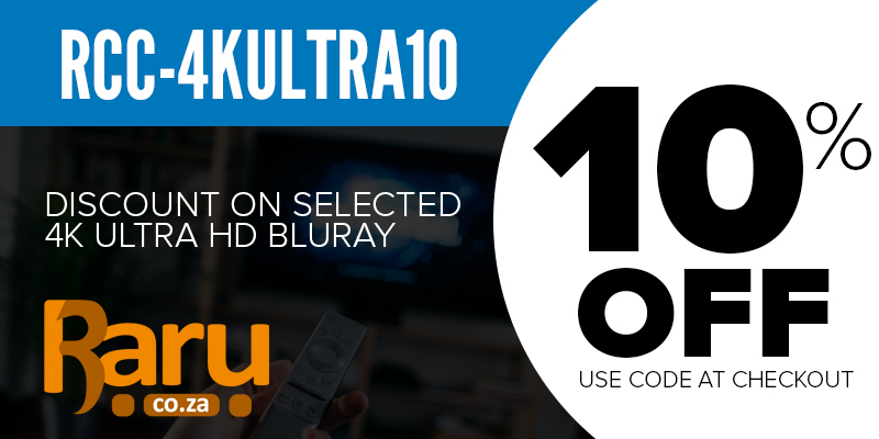 4K Ultra HD Blu-rays. Save 10% on Checkout Using Coupon Code RCC-4KULTRA10