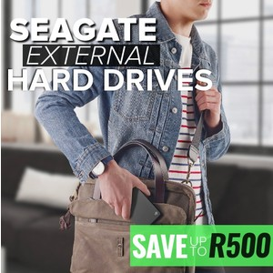 Save up to R500 on Seagate External Drives